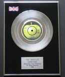 THE BEATLES - SOMETHING PLATINUM single presentation DISC